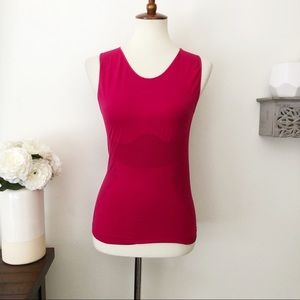 REI stretch seamless red sleeveless athletic top M